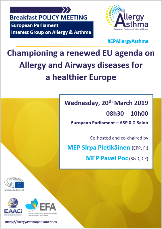 Event Report: Championing a renewed EU agenda for allergies and airways diseases for a healthier Europe icon